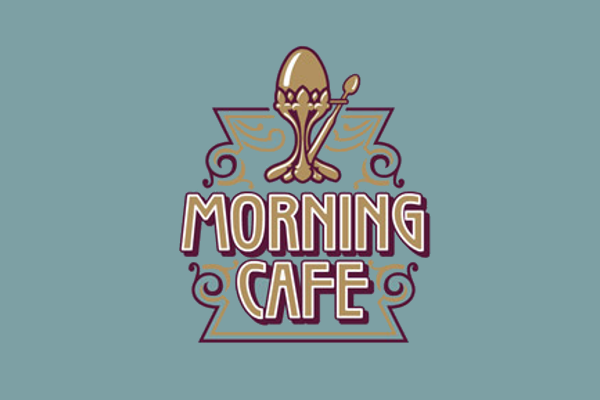 morning cafe logo design