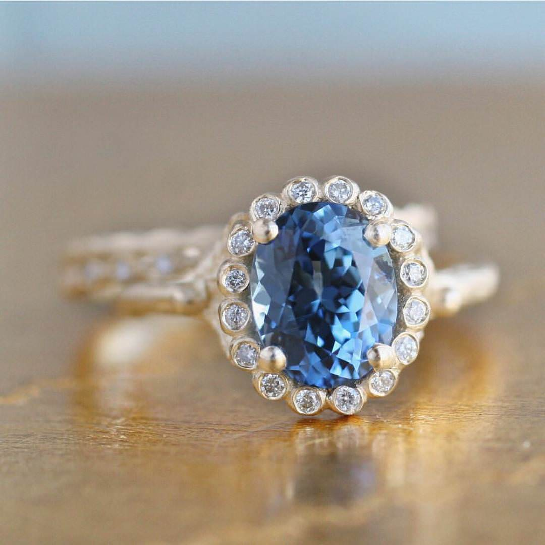 wedding keanes stone blue stones rings coloured diamond