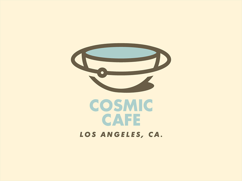 Vintage Cafe Logo Design.