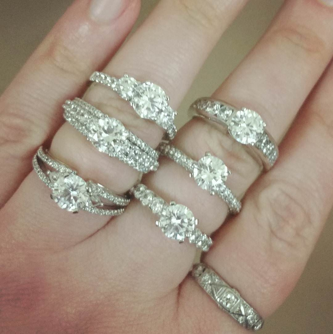 set of stone engagement rings