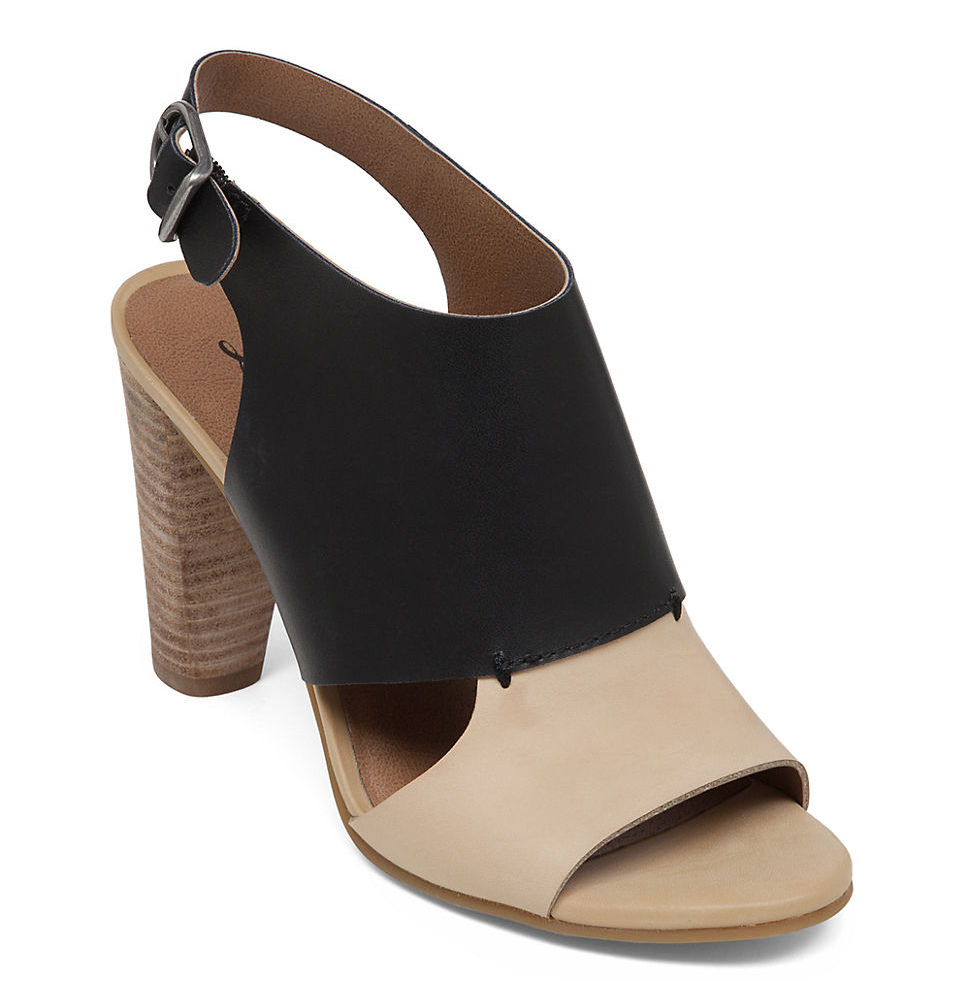 Lucky Brand Otta High Heel Leather Sandals