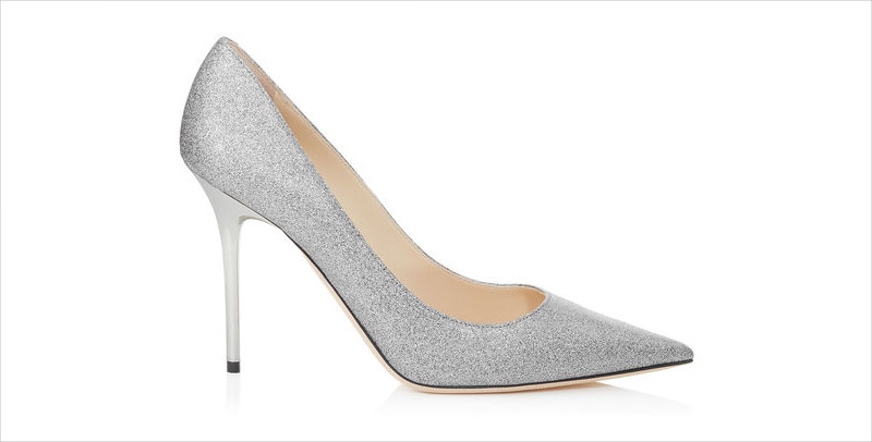 Jimmy Choo Silver High Heels