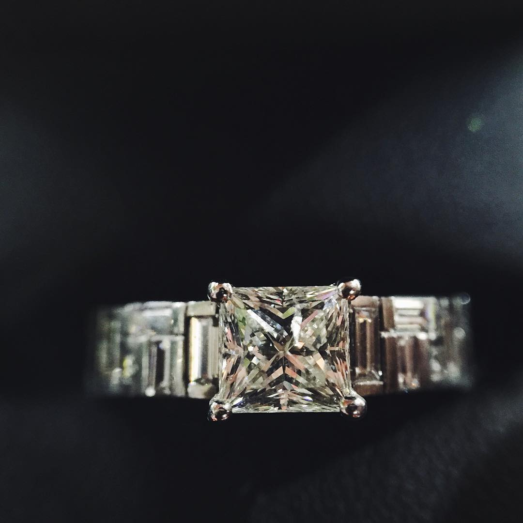 Cool Trendy Square Diamond Ring