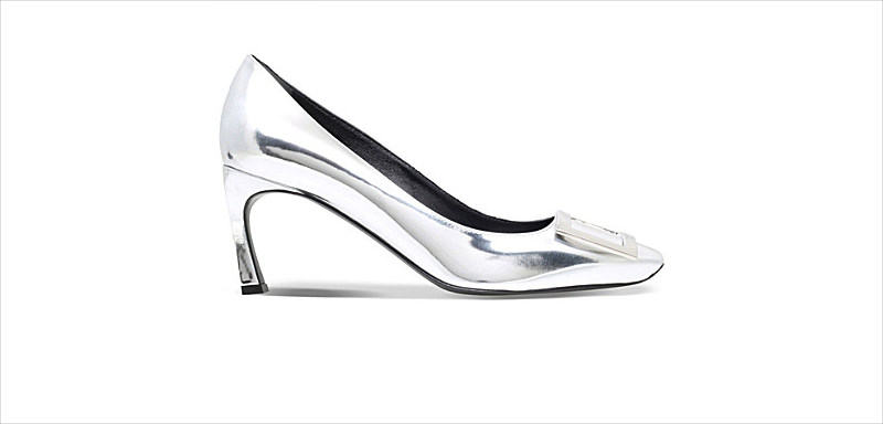 Pure Silver Color High Heel