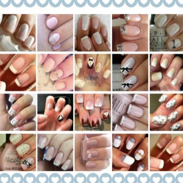 Set of Wedding Nail Designs