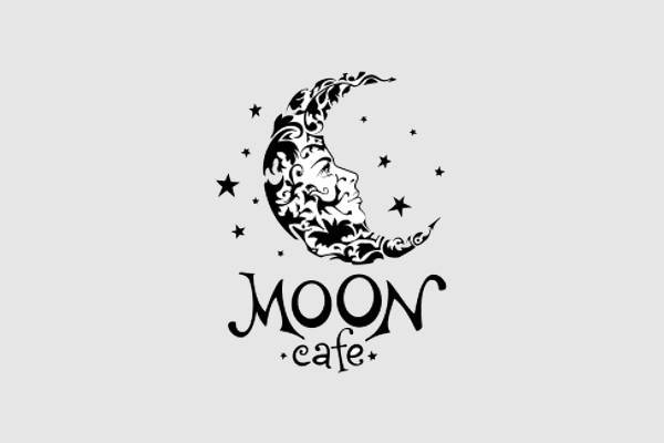 Moon Cafe Logo Design