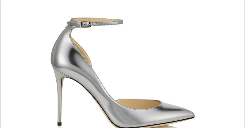 amazing silver heel