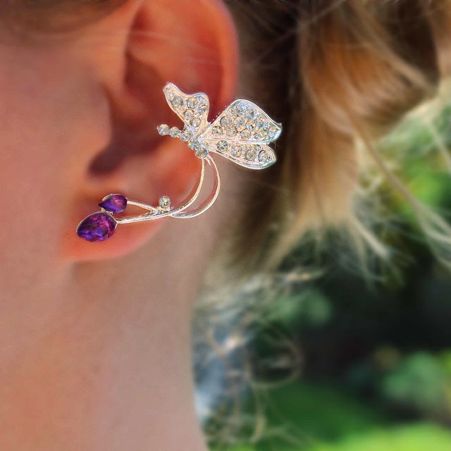 Beautiful Butterfly Shape Cuff Earrings
