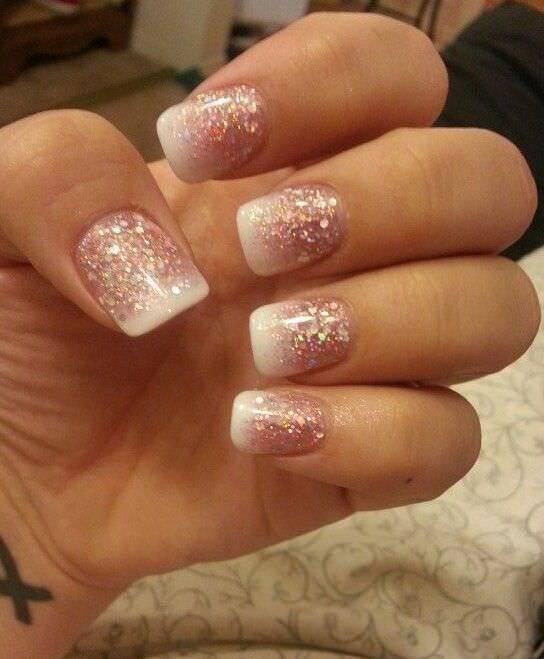 gorgeous wedding nail design