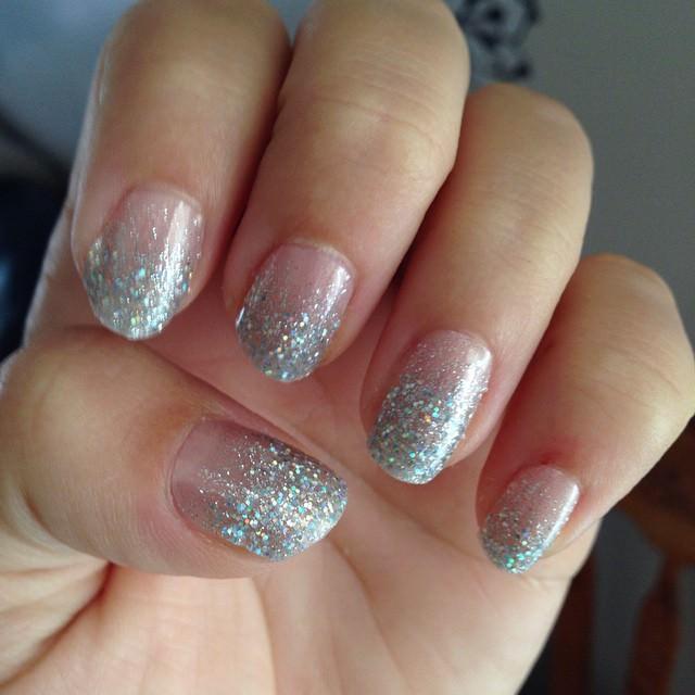 glitter nail design art