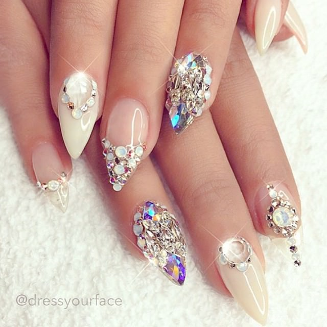 Elegant Beauty Nail Design - 27+ Wedding Nail Art Designs, Ideas Design Trends - Premium PSD