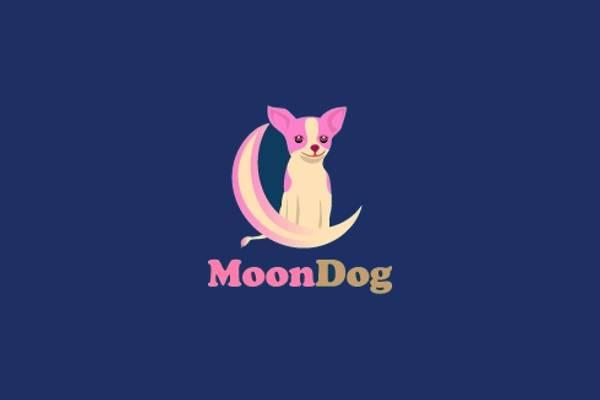 Moon Dog Logo Design
