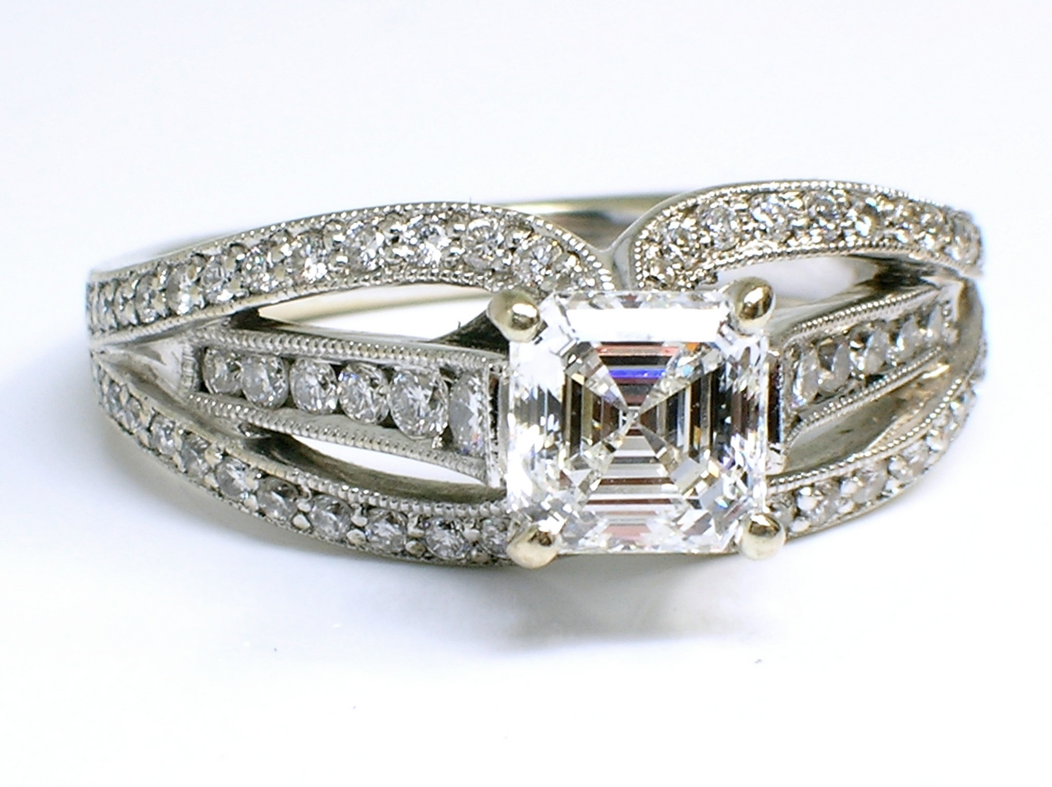 flawless square diamond ring