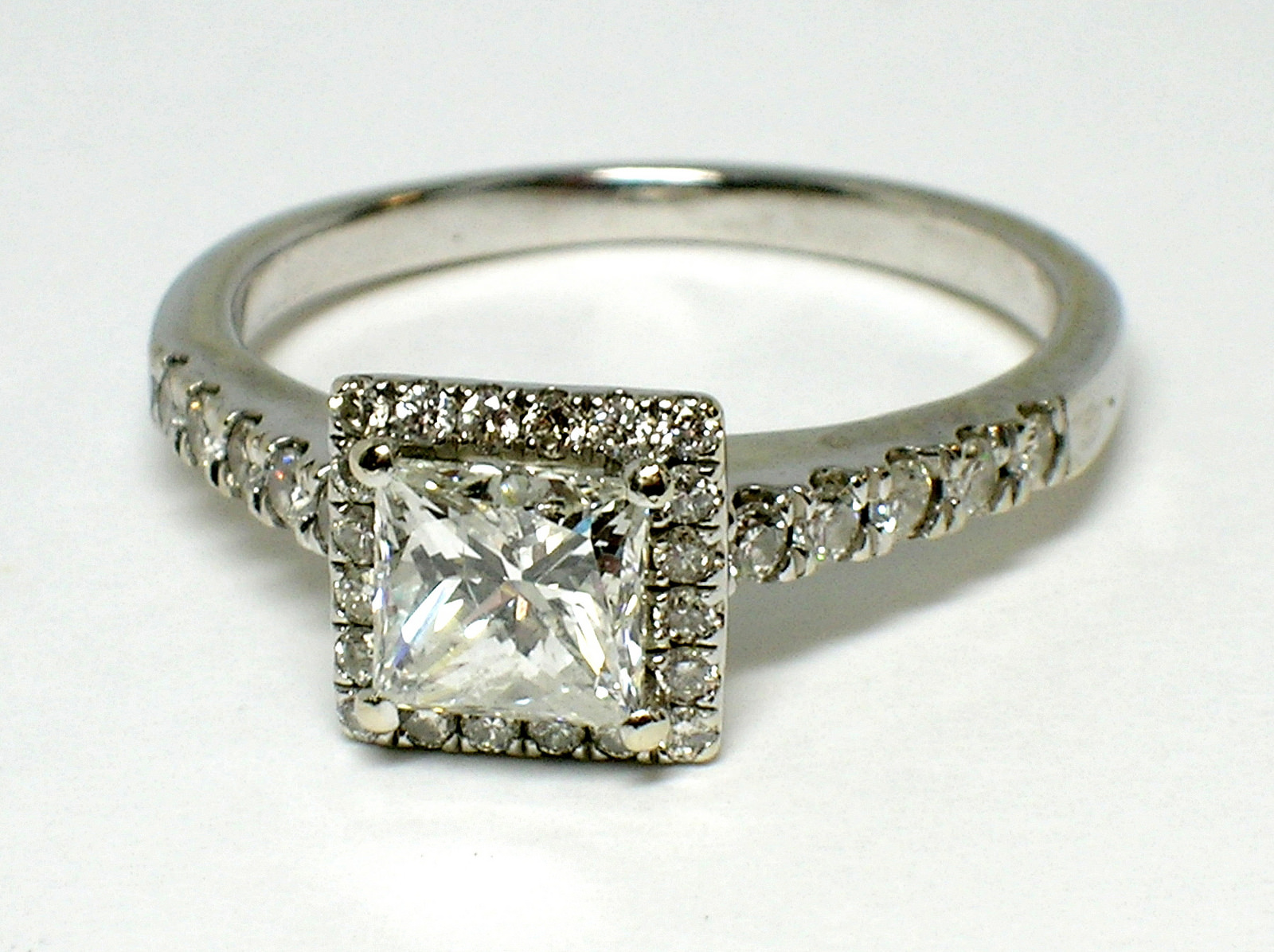 Brilliant Square Diamond Ring