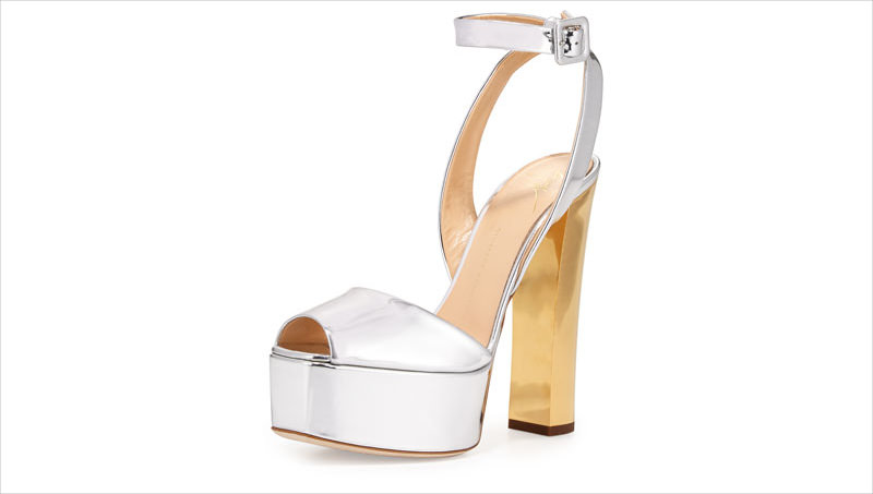 High Heel With Silver Color