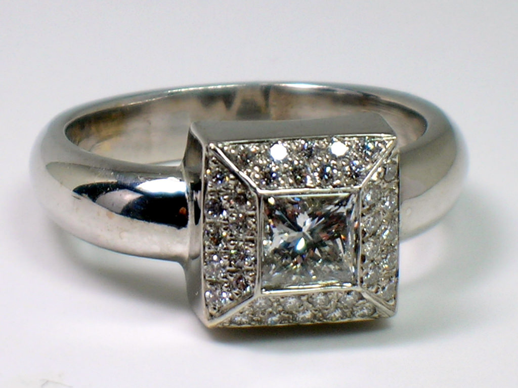 wonderful square diamond ring