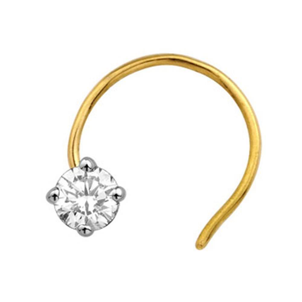 solitaire diamond fashion nose ring