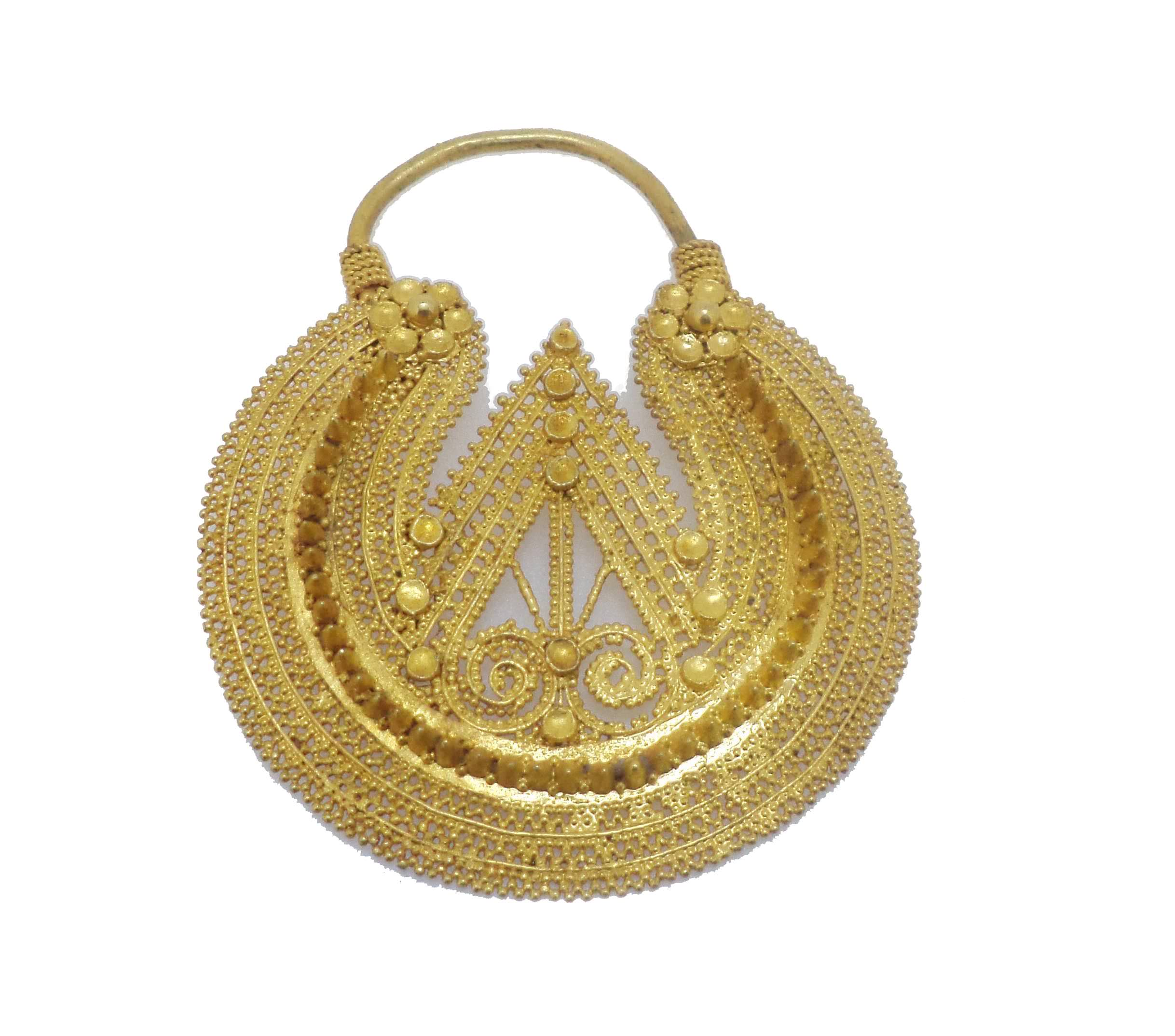 Yellow Gold Traditional Nose Ring of Himachal Pradesh