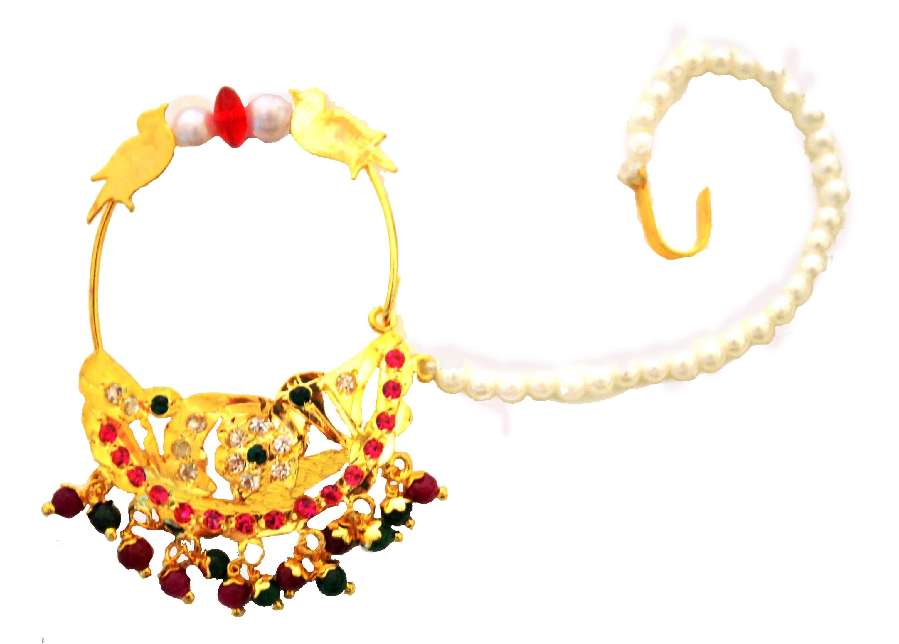 Bridal Nose Rings Designs | Design Trends - Premium PSD, Vector ...