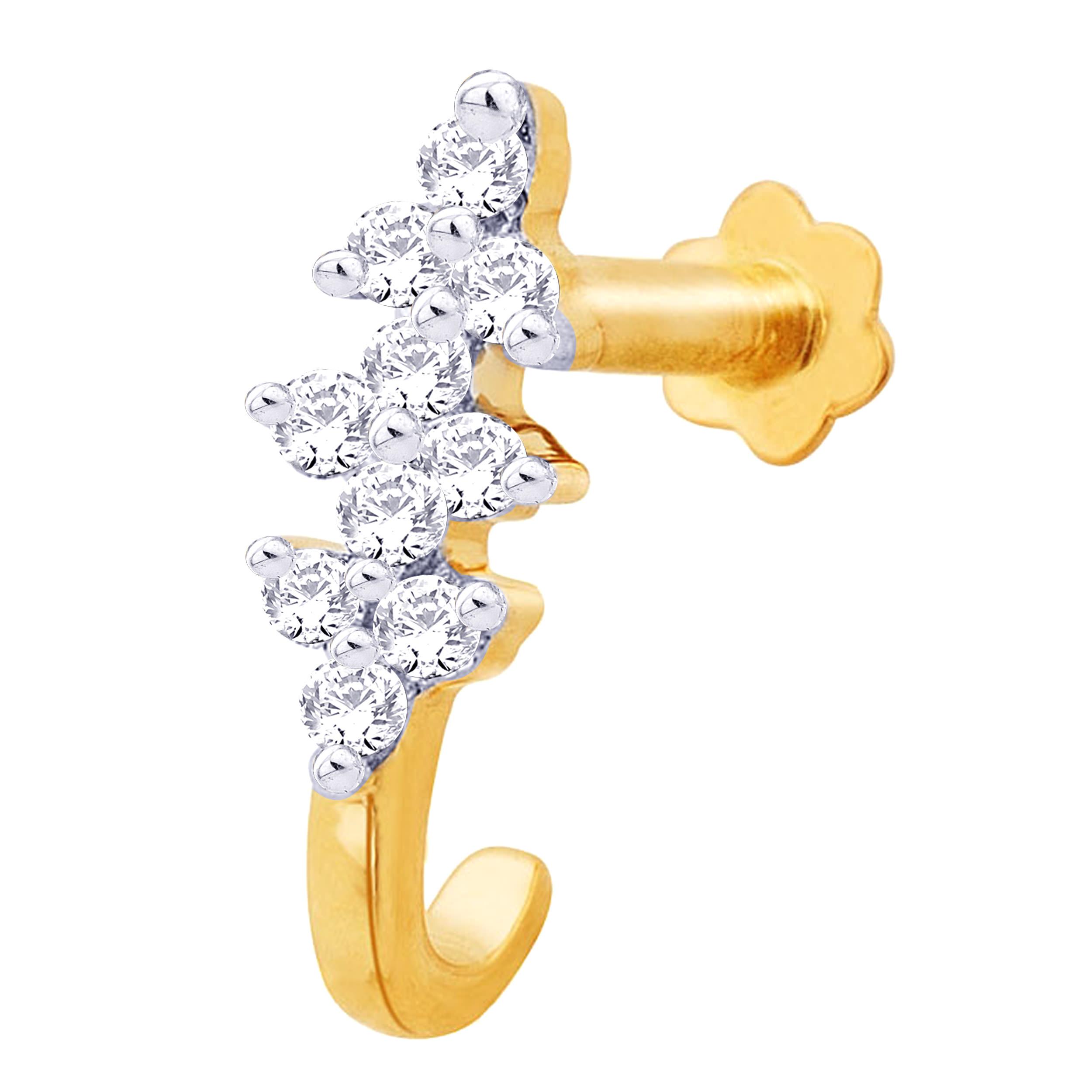 14k gold designer nose ring