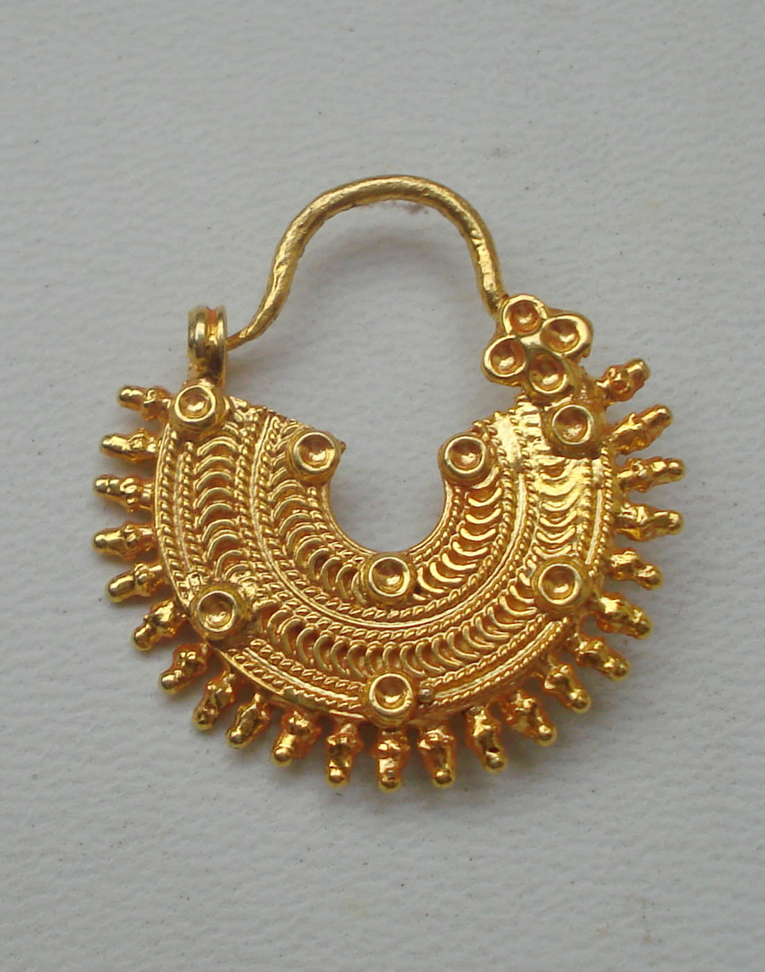 Traditional Design 20k Gold Nose Ring