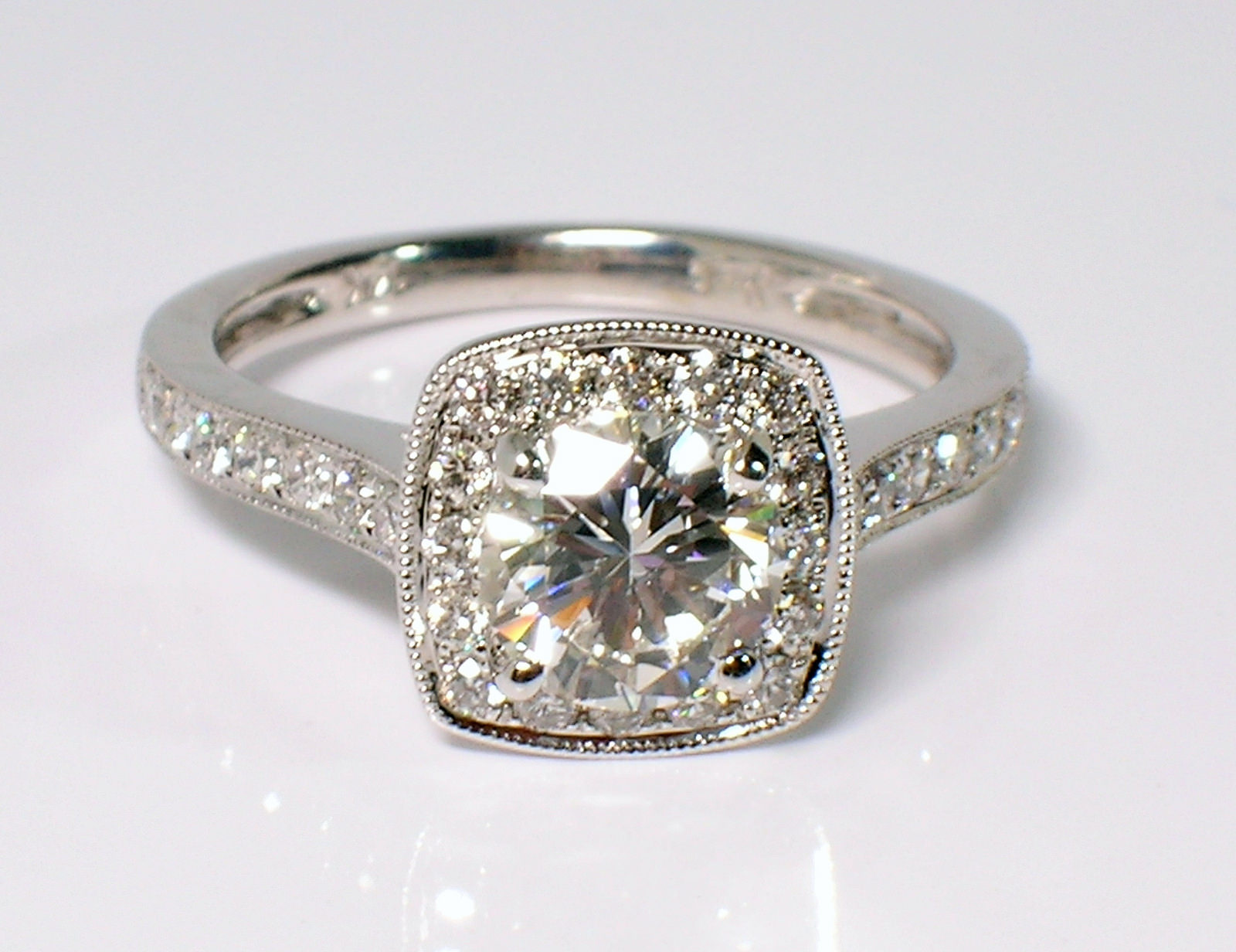 Cute Square Diamond Ring