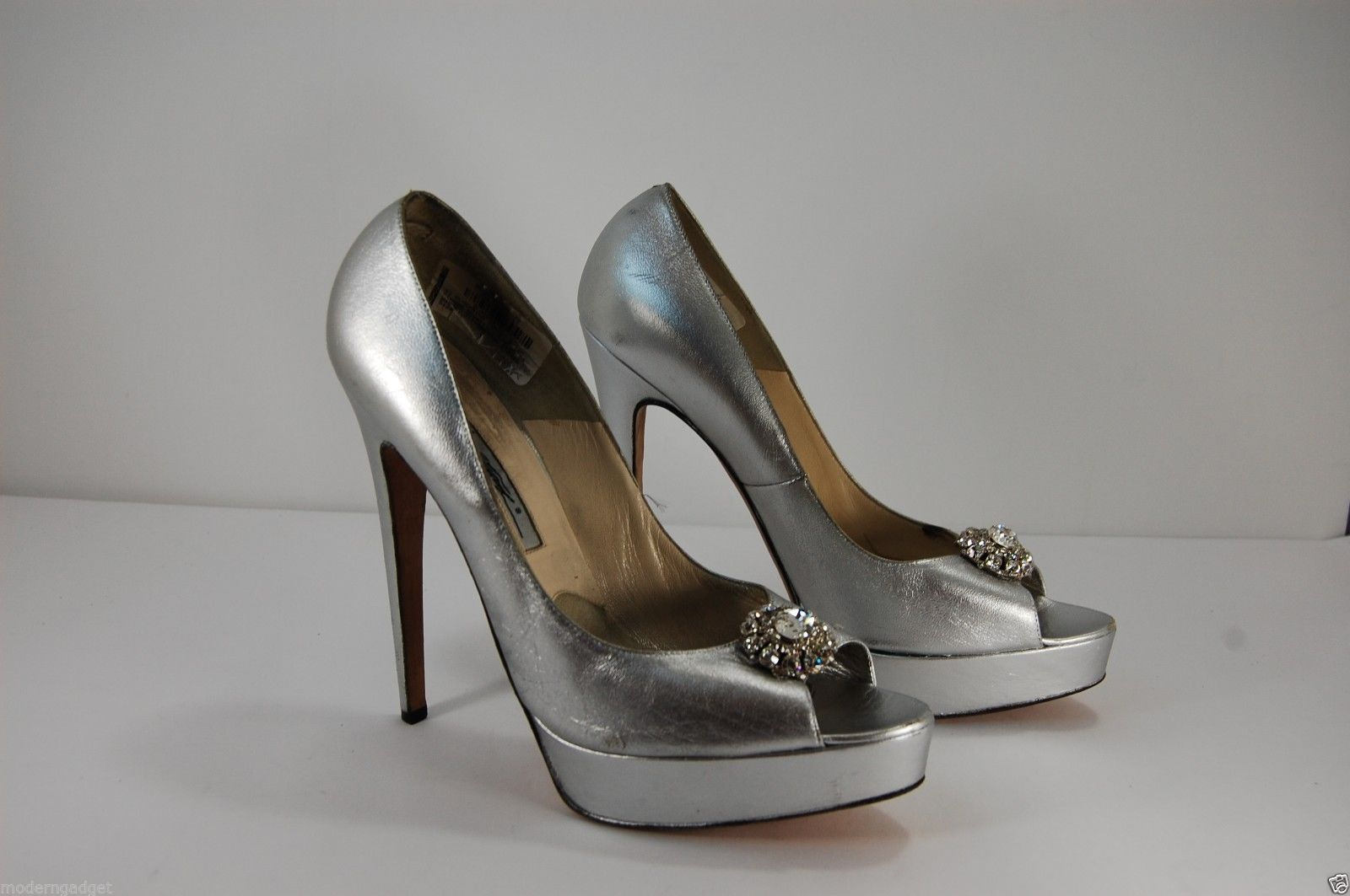 Flower Silver High Heel