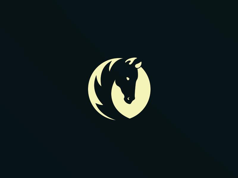 Moon Horse Logo Design