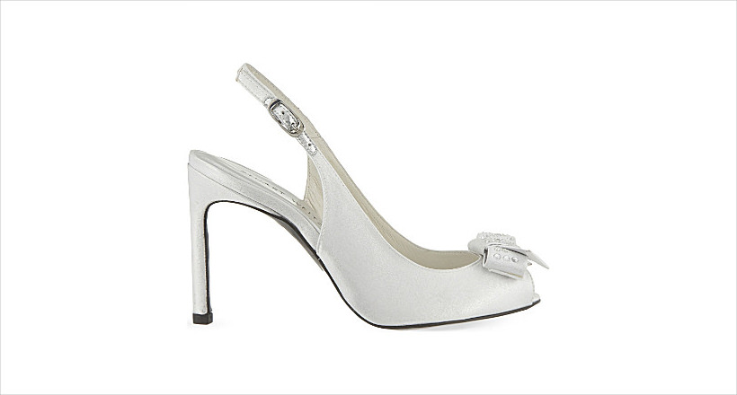 cool silver heels