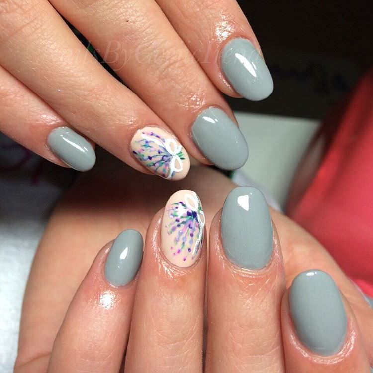 Hand Painted Nail Art Designs: 29+ Oval Nail Art Designs, Ideas