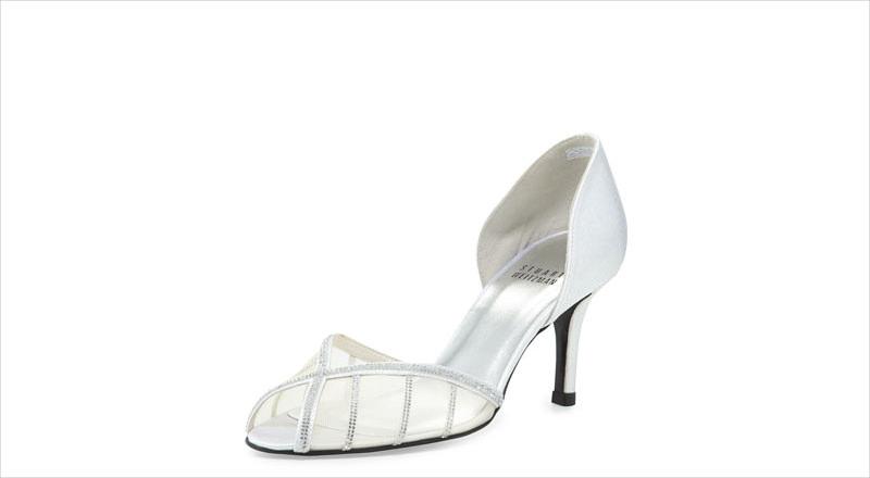 elegant silver high heel