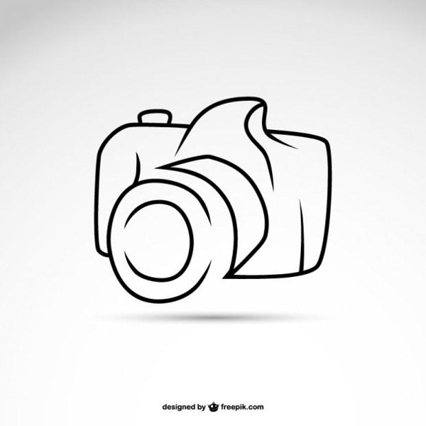 Free Line art camera symbol logo