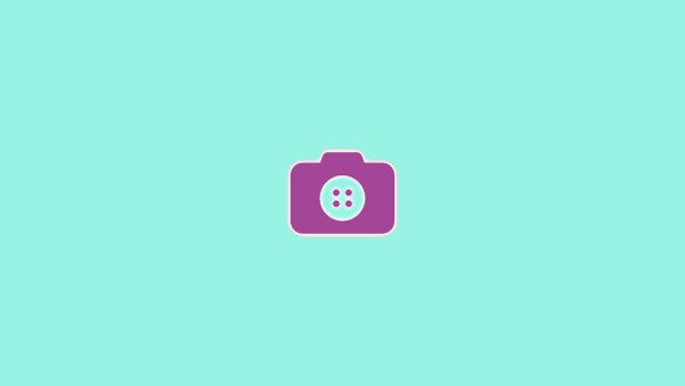 Camera button fashion logo design