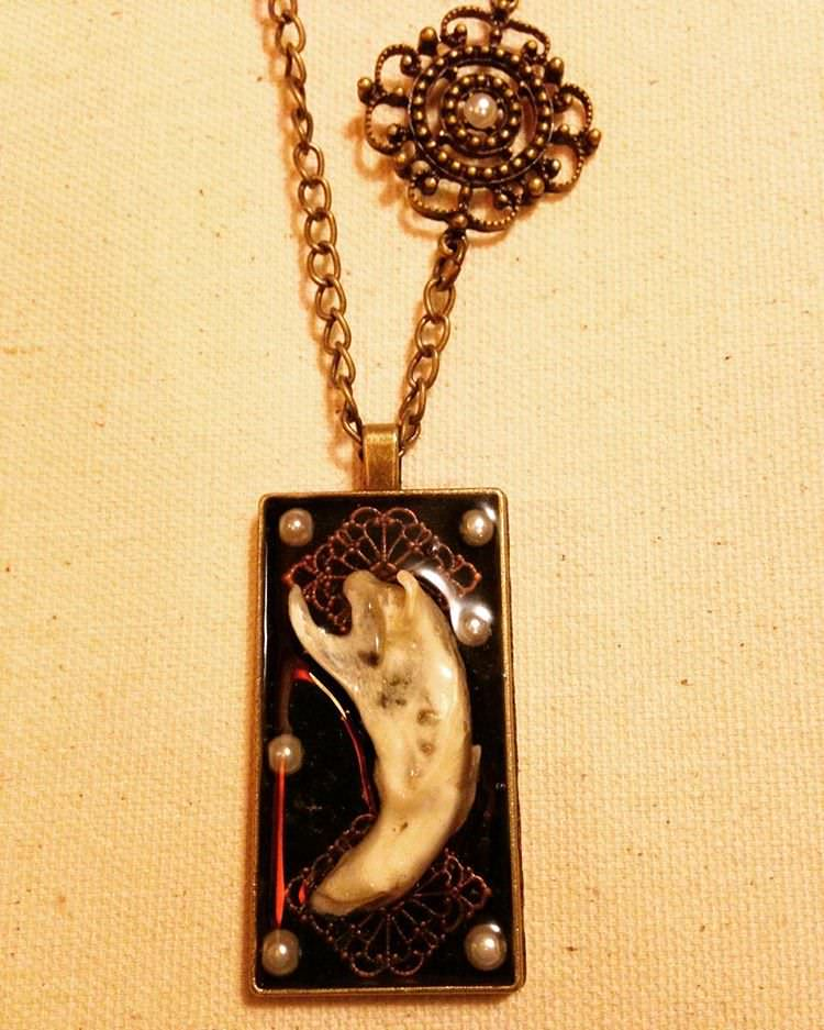 Dark Vintage Bone Morbid Jewelry