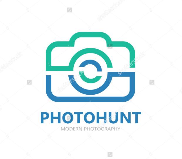 Photo hunt Camera logo Design