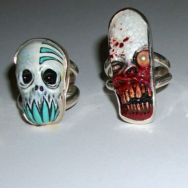 Cool Pair of Skull Rings