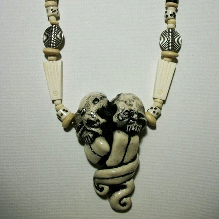 Zombie Style Necklace Morbid Jewelry