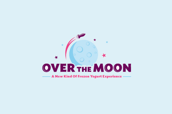 Rocket and Moon Logo Design1