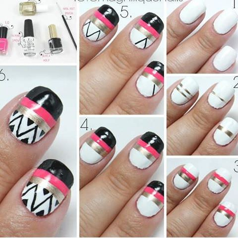 Nice Tribal Art on Nails
