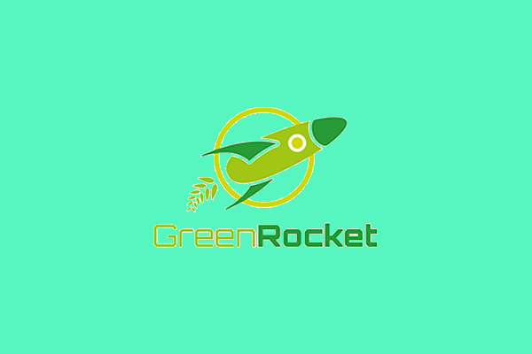 Green Rocket Logo Design
