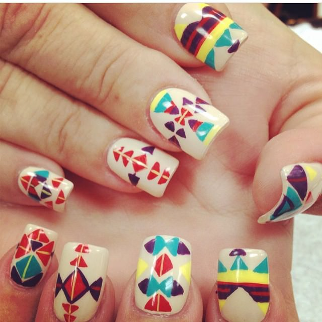 Tribal Nail Art on Fab Nails