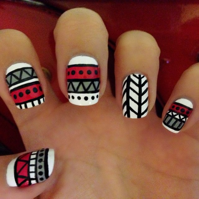 Funky Tribal Nail Art