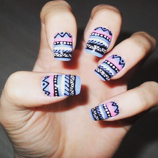 Beautiful Tribal Nail Design
