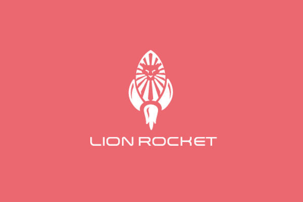 Lion Rocket Logo Design