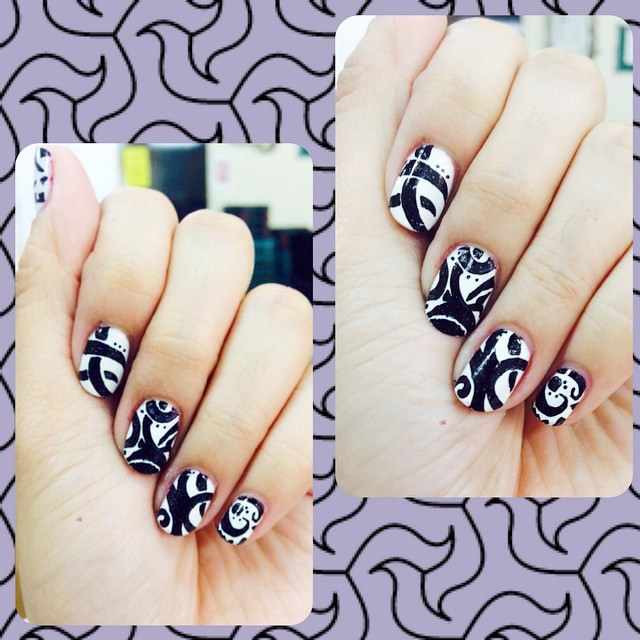 Cute and Simple Tribal Nail design