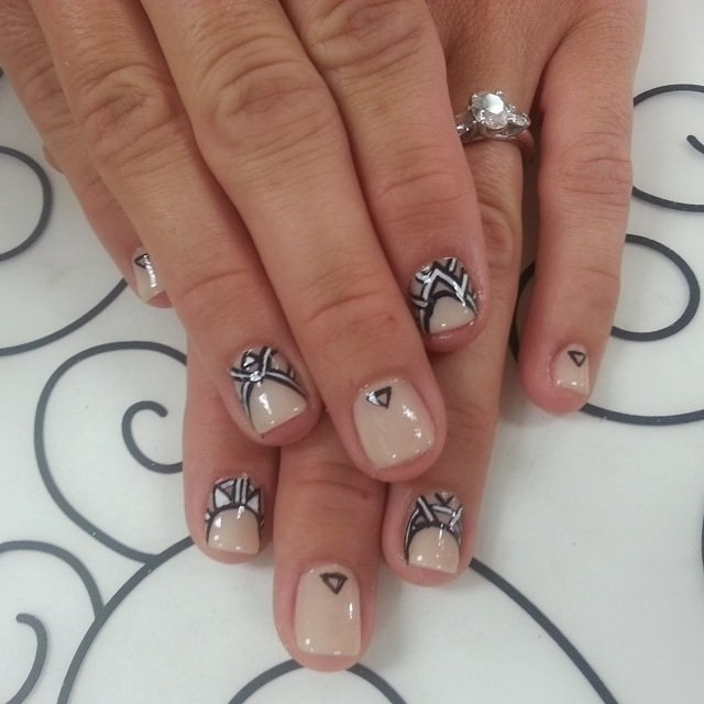 Simple Nails with Tribal Design