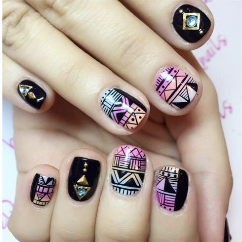 Amazing Tribal Nail Art