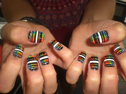 Tribal Elegant Design on Nails