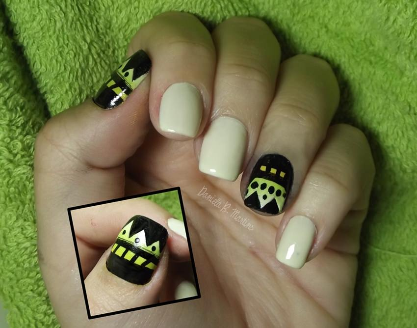 Elegant Tribal Nail Art
