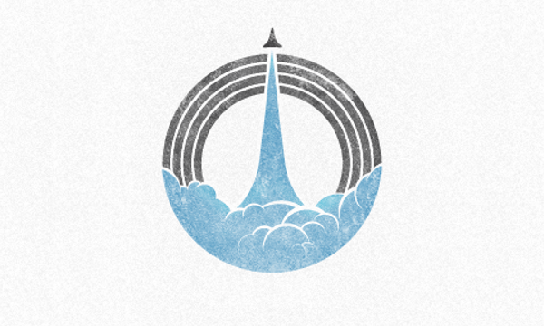 Circular Rocket Logo Design